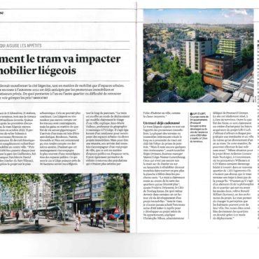 LiftOLoft : Actualité : «Comment le tram va impacter l'immobilier liégeois» –  Trends tendance 12.03.2020